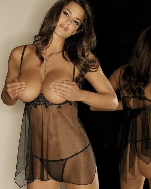 Sheer softcore bra