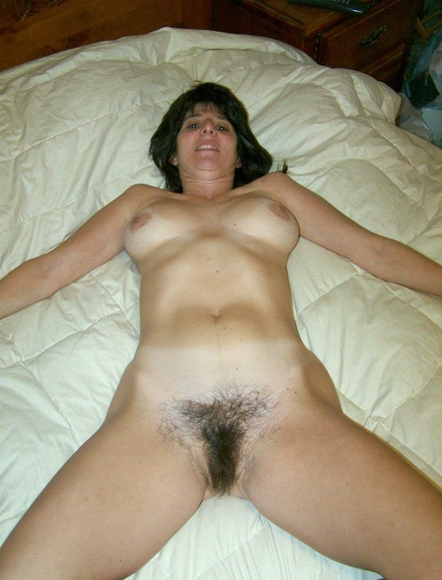 Hairy brunette mature