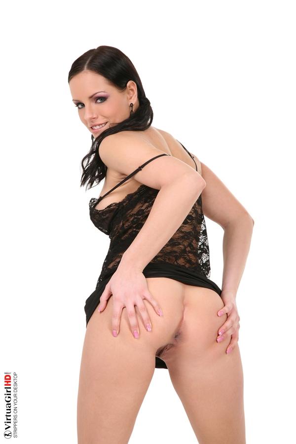 Kari's spread ass; Amateur Ass Babe Brunette Lingerie