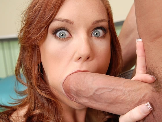 Red head takes on big dick