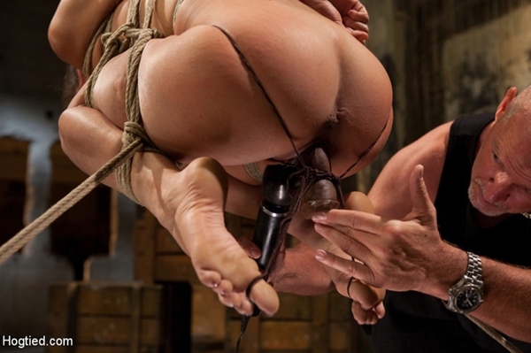 Lyla Storm Bound With Hitachi - Slippery Onion; Bondage