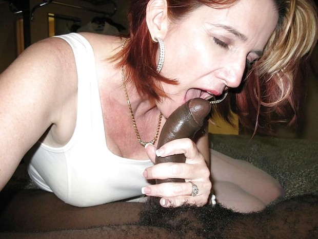 Mature interracial blowjob and cumshot!