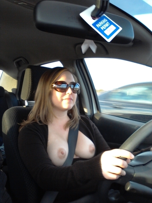 Seatbelt Separation, Wives tits out on road 2!!! 19; Amateur Big Tits Brunette Wife Public