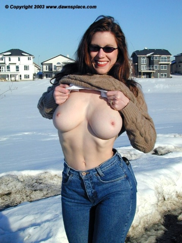 flashing tits public Amateur wife
