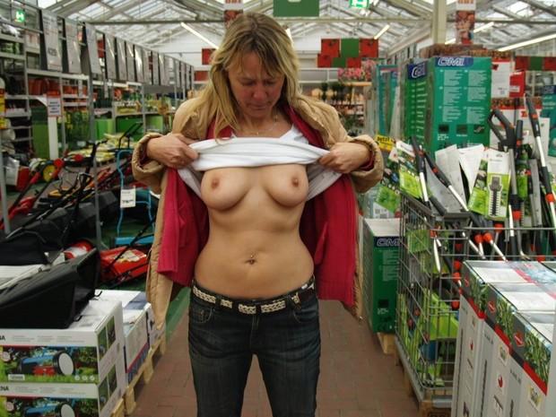 tits big public mature Amateur