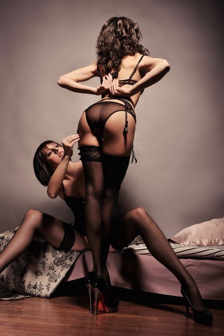; Ass Babe Brunette Hot Lesbian Lingerie Panties