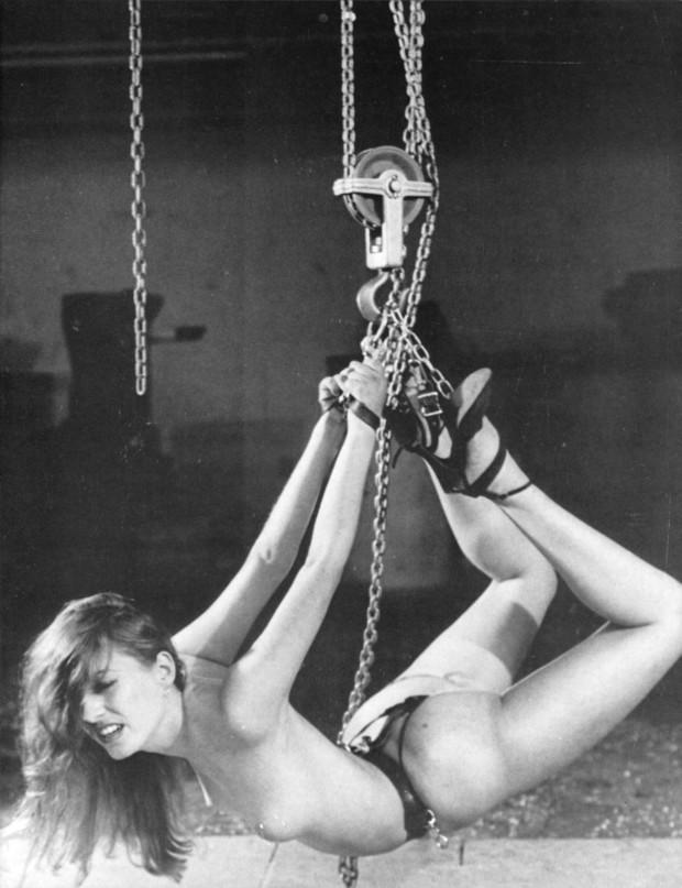 retro female suspension bondage