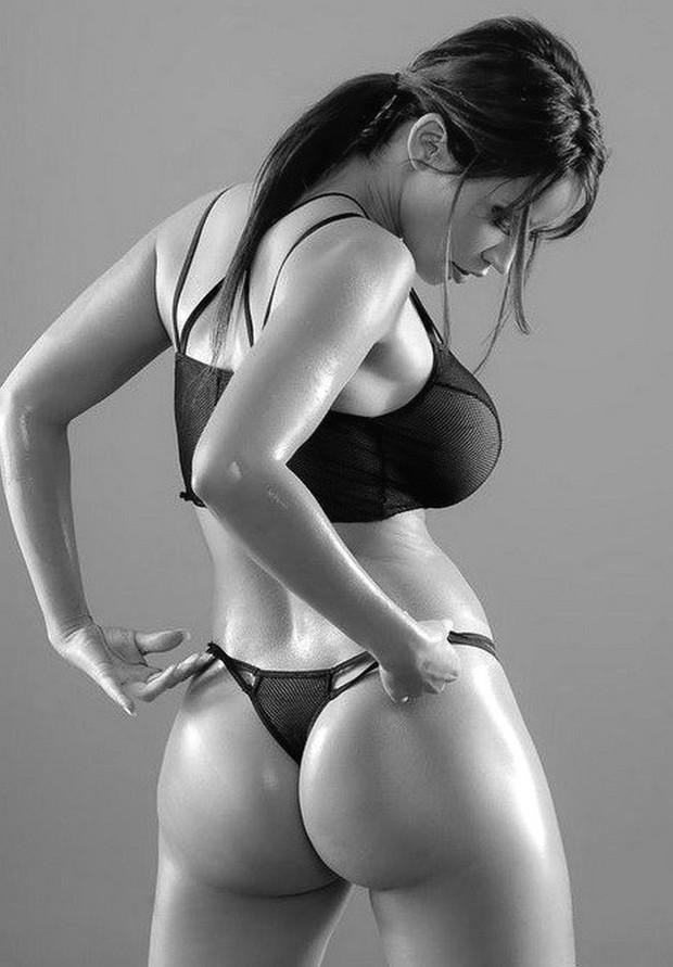 ...; Babe Big Tits Brunette Lingerie Non Nude Panties