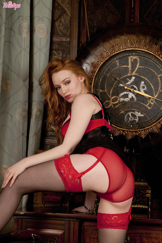 ...; Amateur Kloe Lingerie Non Nude Panties Red Head