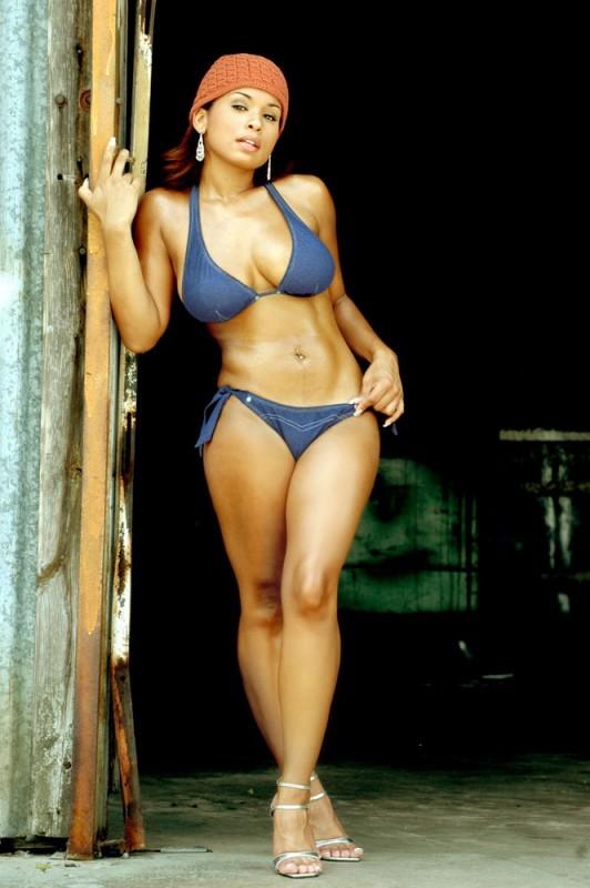 ...; Athletic Big Tits Bikini Ebony Model
