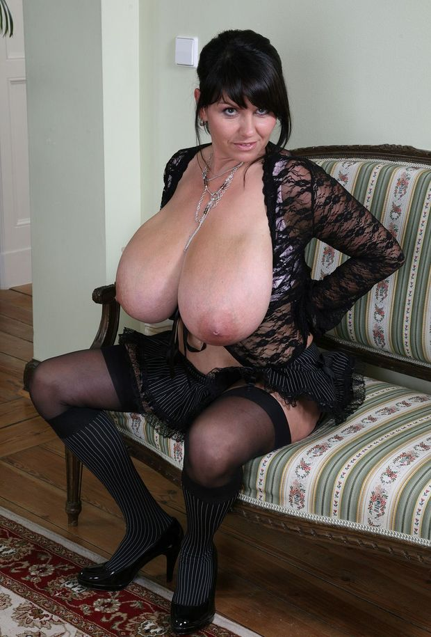 Mature oldies in girdle