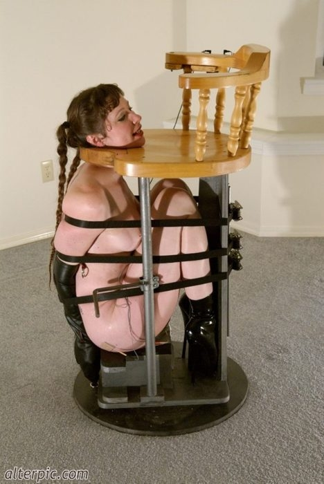 Mistress use lesbian furniture 9