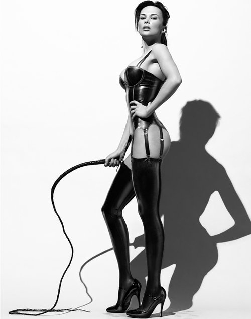 Rubber dom whips a maid 6