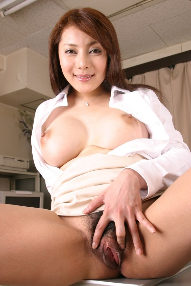 Asian big tits hairy milf pussy