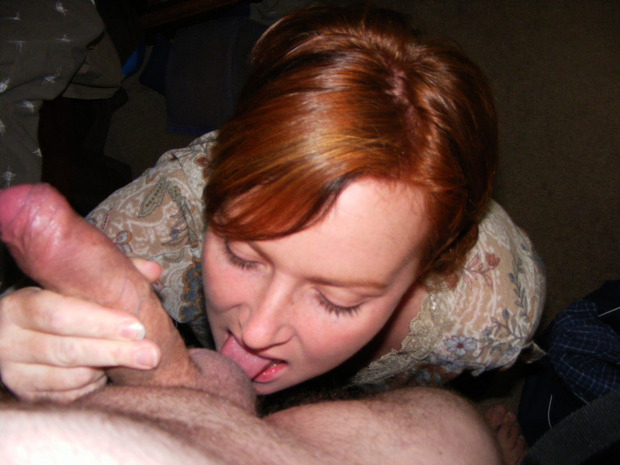 image Red head blowjob with hot eye contact