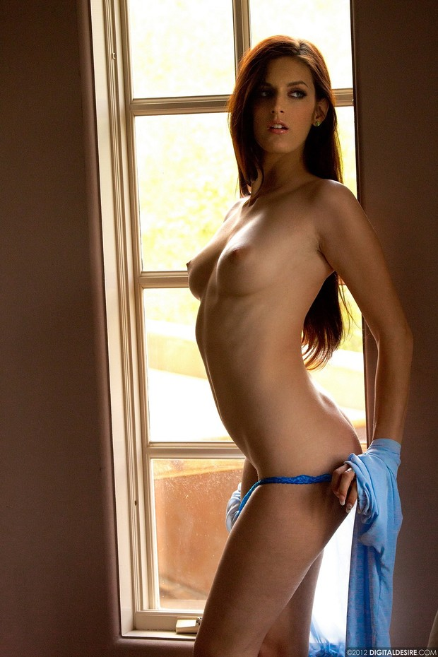 ...; Athletic Babe Brunette Panties