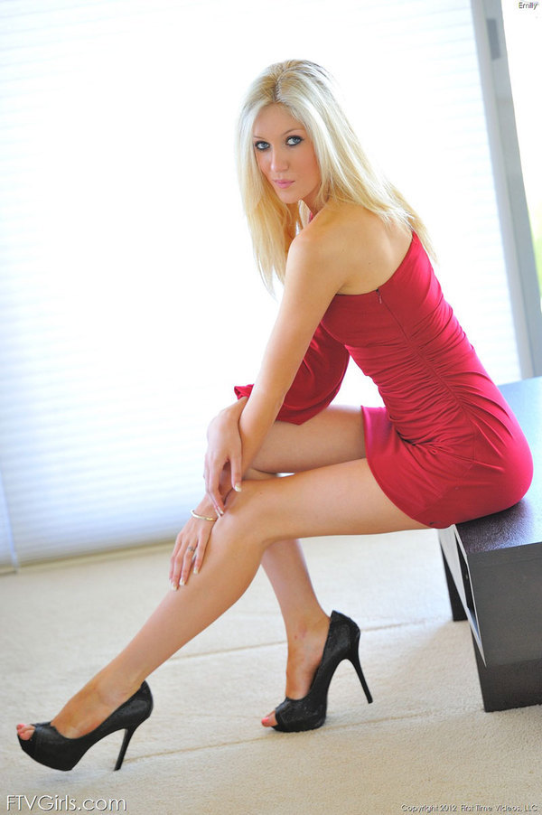 ...; Babe Blonde Heels Legs Non Nude