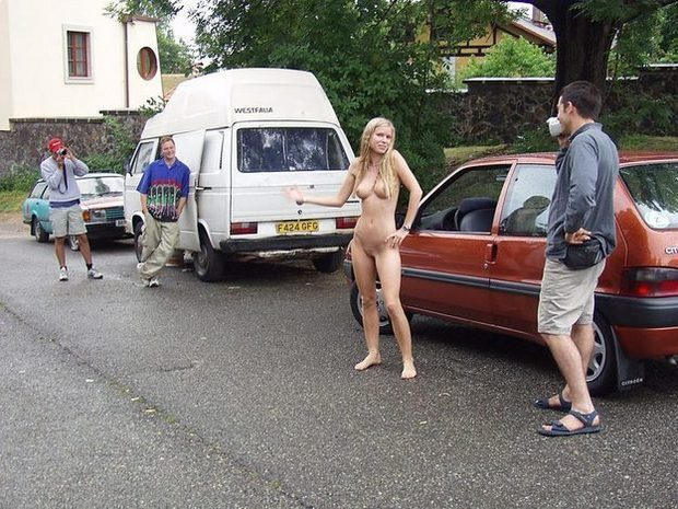 ...; Amateur Blonde Outdoor