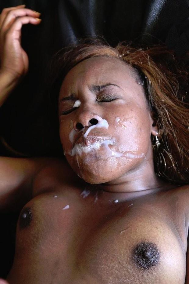 black faces on Cum